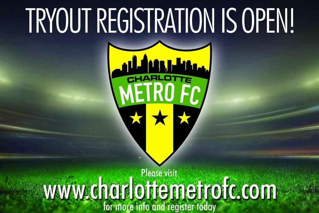 Charlotte Metro FC Tryout Information and Registration