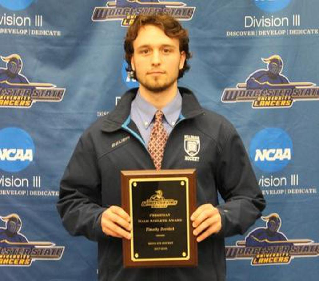 "Tim selected as ""Male Rookie of the Year"" by Worcester State University"