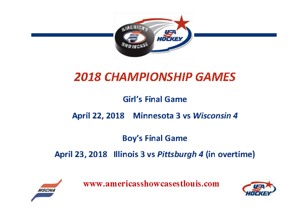 Championship Game Results