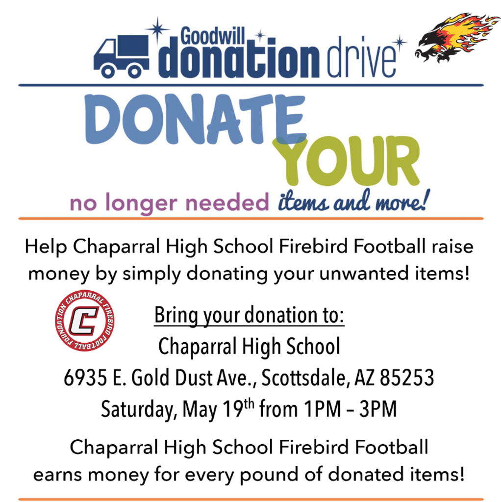 Goodwill Donation Drive - Chaparral HS Football
