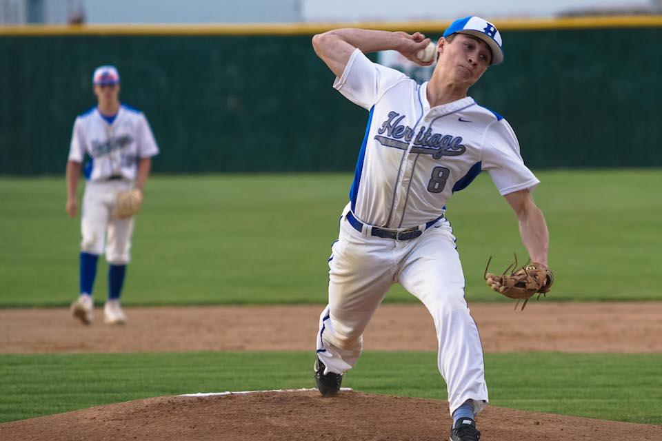 Heritage Christian Academy's Seth Halvorsen's arm could be put to the test Friday against a Providence Acadamy team that's been held to under 10 runs in only five games this season. Photo by Korey McDermott, SportsEngine