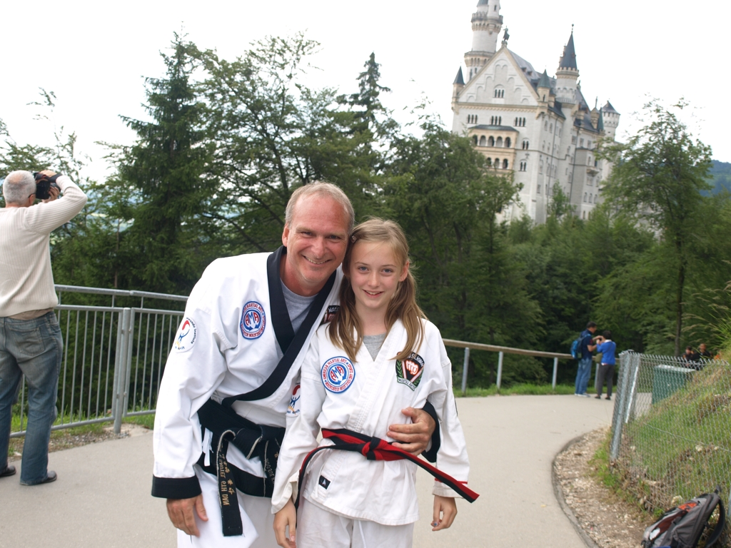 With new junior black belt Kathleen Sautel