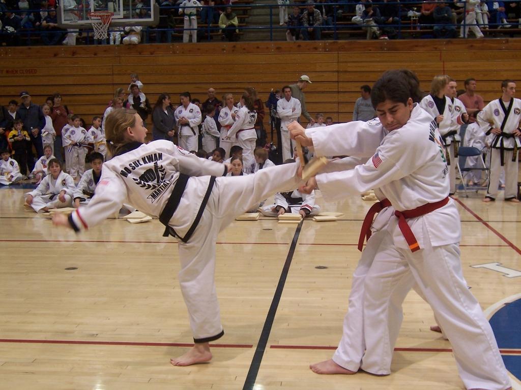 Breaking as a junior 1st dan black belt