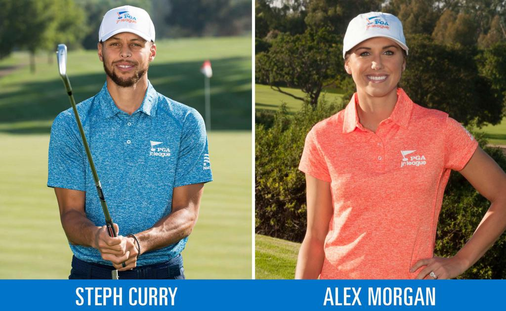 Steph Curry and Alex Morgan joined the team as Official Ambassadors for PGA Jr. League in November 2018.