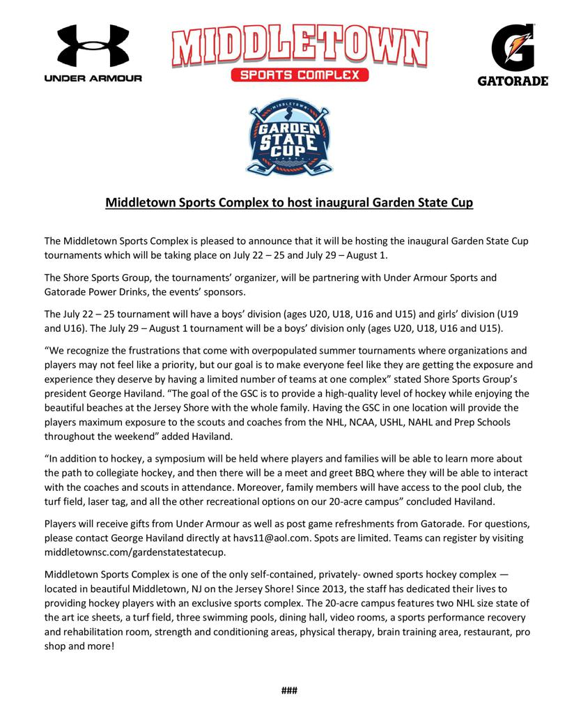 2021 Garden State Cup Overview