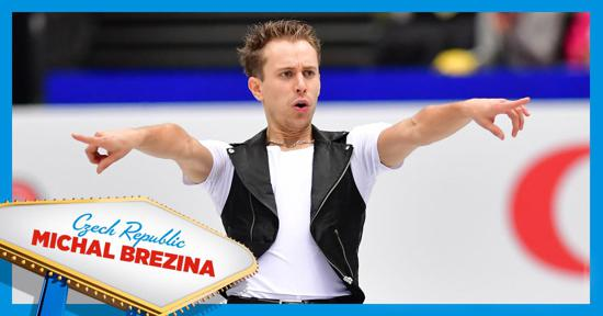 Skate America men's competitor -Michal Brezina - Czech Republic