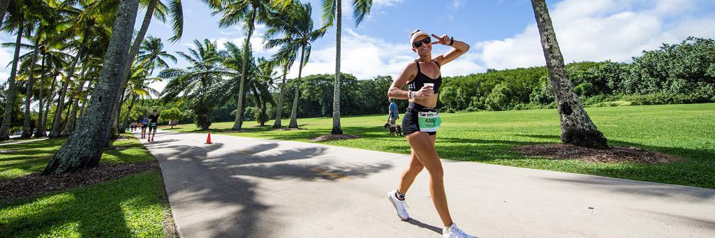IRONMAN Cairns run course along the Cairns esplanade