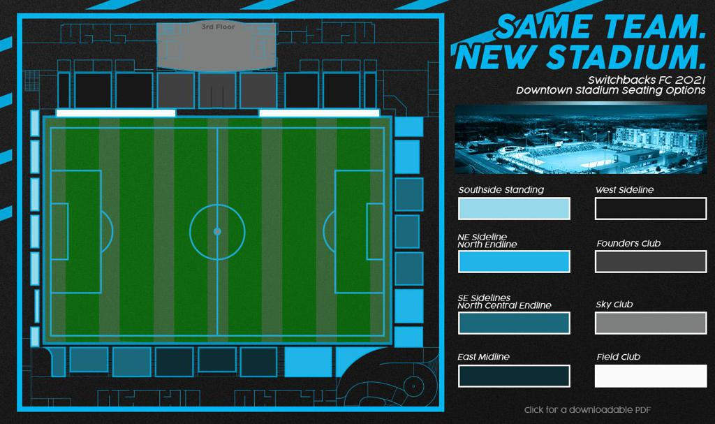 Switchbacks FC 2021 Seating Options at Weidner Field