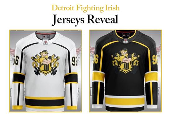 Detroit Fighting Irish Jerseys Reveal