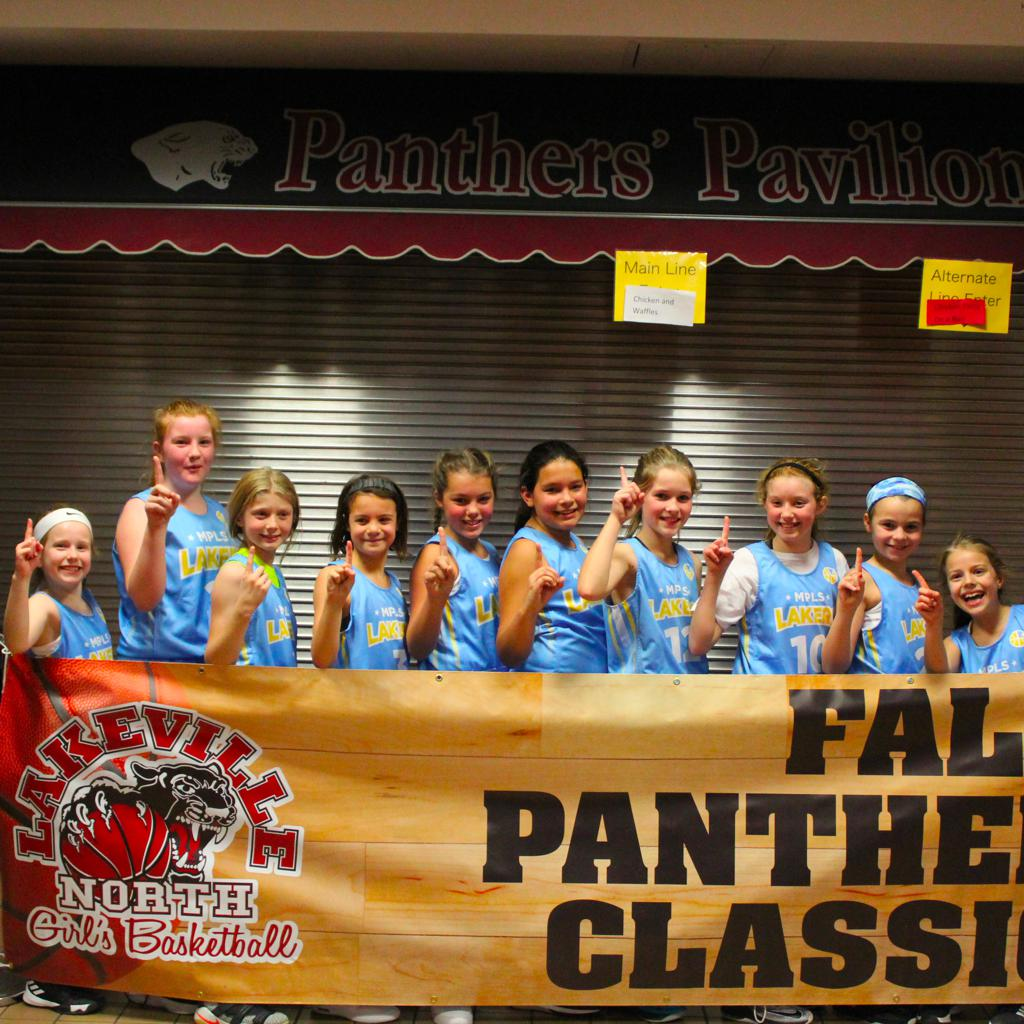 Girls 5th Grade Gold take 1st Place at Lakeville Panther Classic