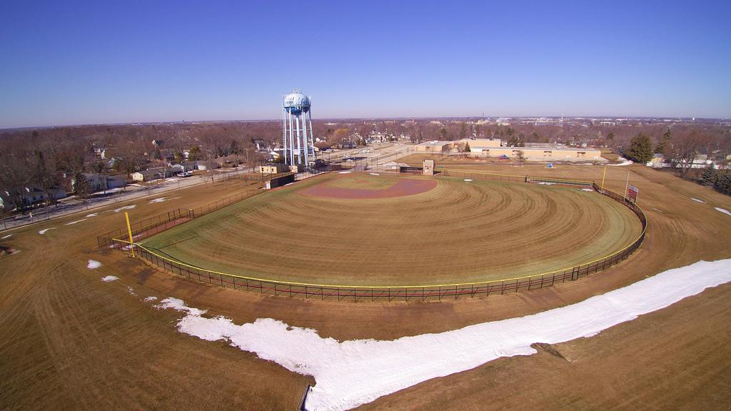 Photo from above of Aurora Field.