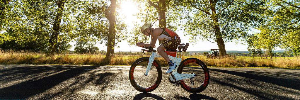 Cyclist participating in 70.3 Taupo
