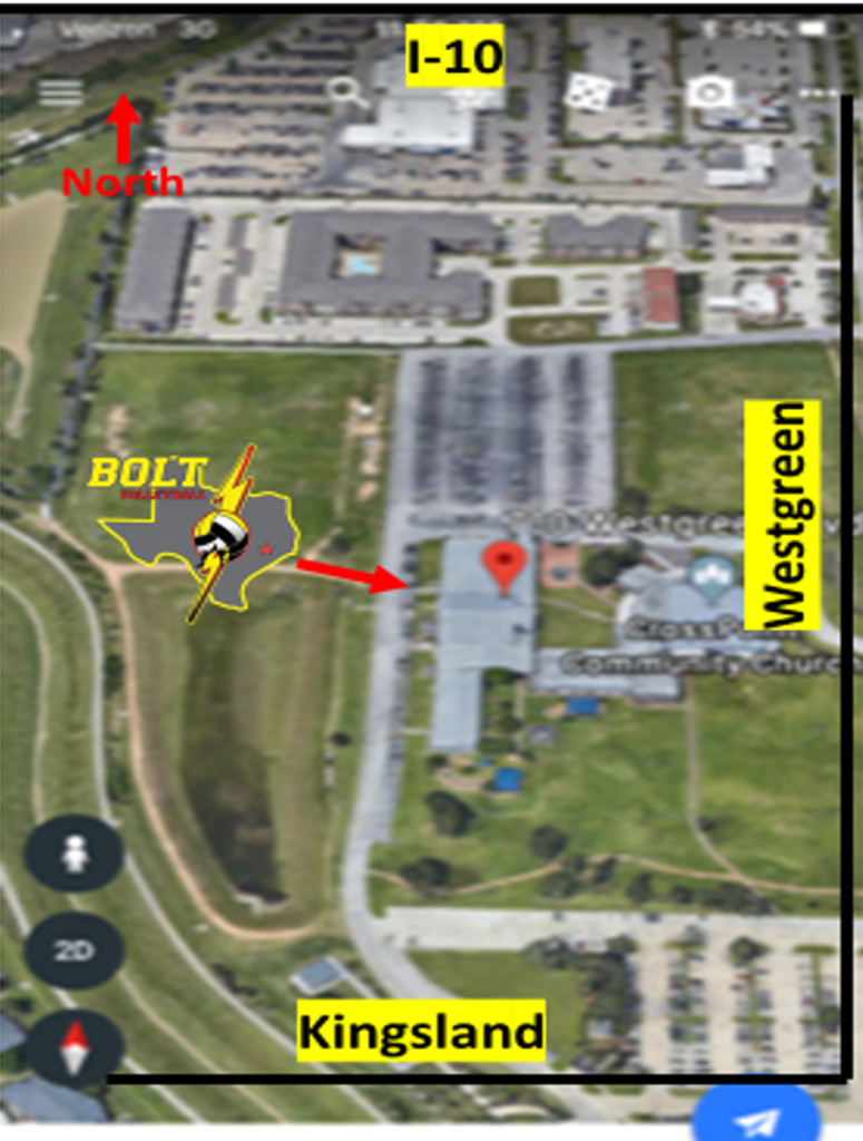 BOLT Volleyball Gym Location and Entrance
