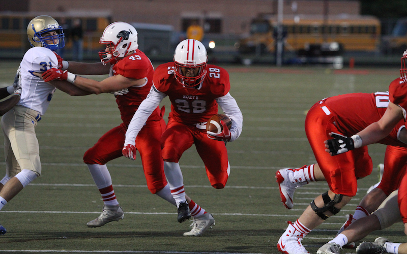Lakeville North's dominant offensive line paved the way to the Class 6A state championship last season, but the Panthers will need to rely on a new core of players to repeat as big-school titleholders. Photo by Drew Herron, SportsEngine