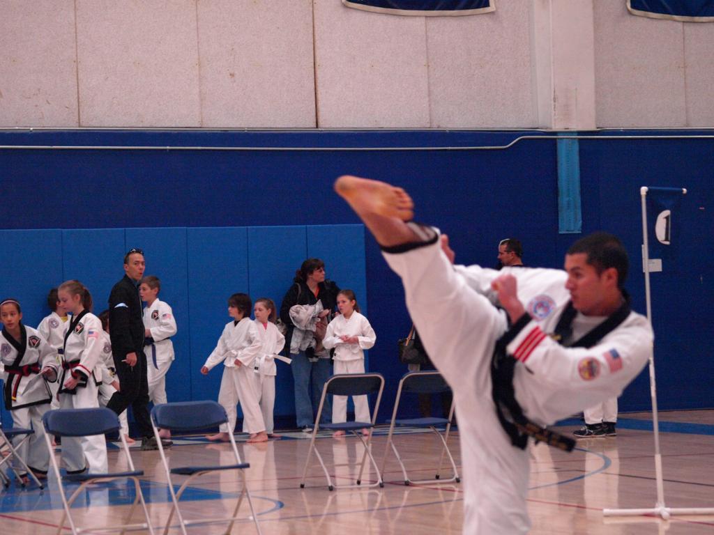 Hook Kicking in Demonstration