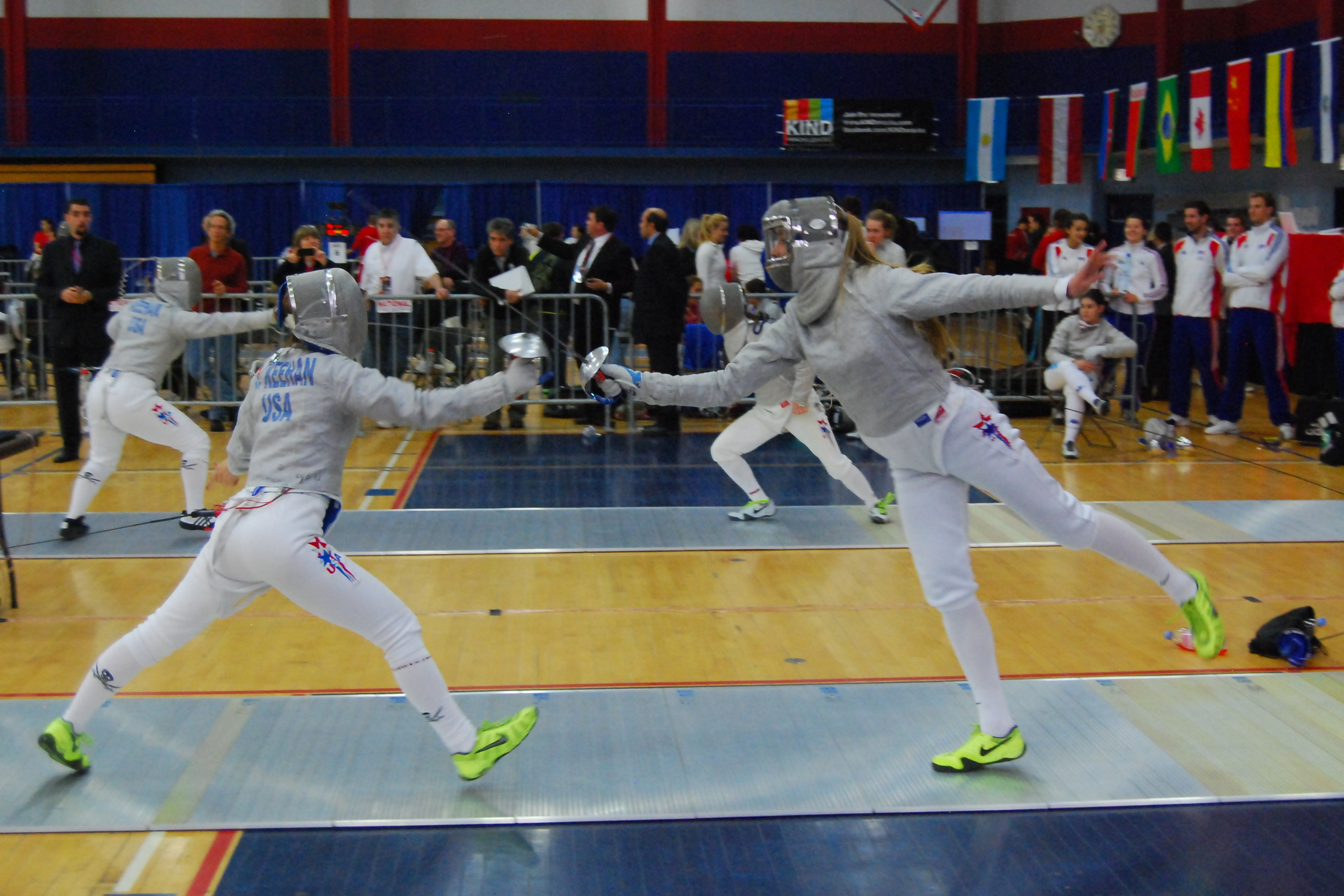 Twenty U S  Fencers Advance to Second Day of Absolute