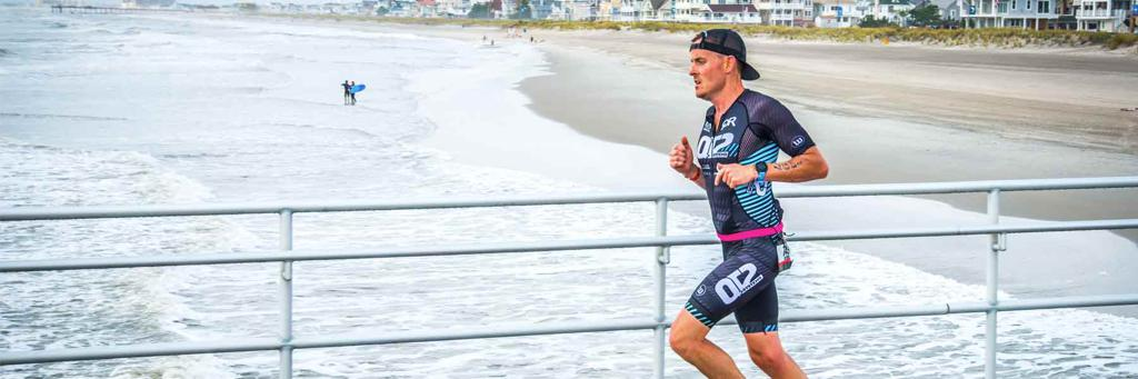 Runner at Atlantic City IRONMAN 70.3 Race