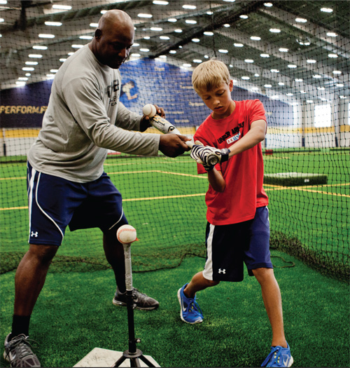 POWER Baseball Academy teaching swing