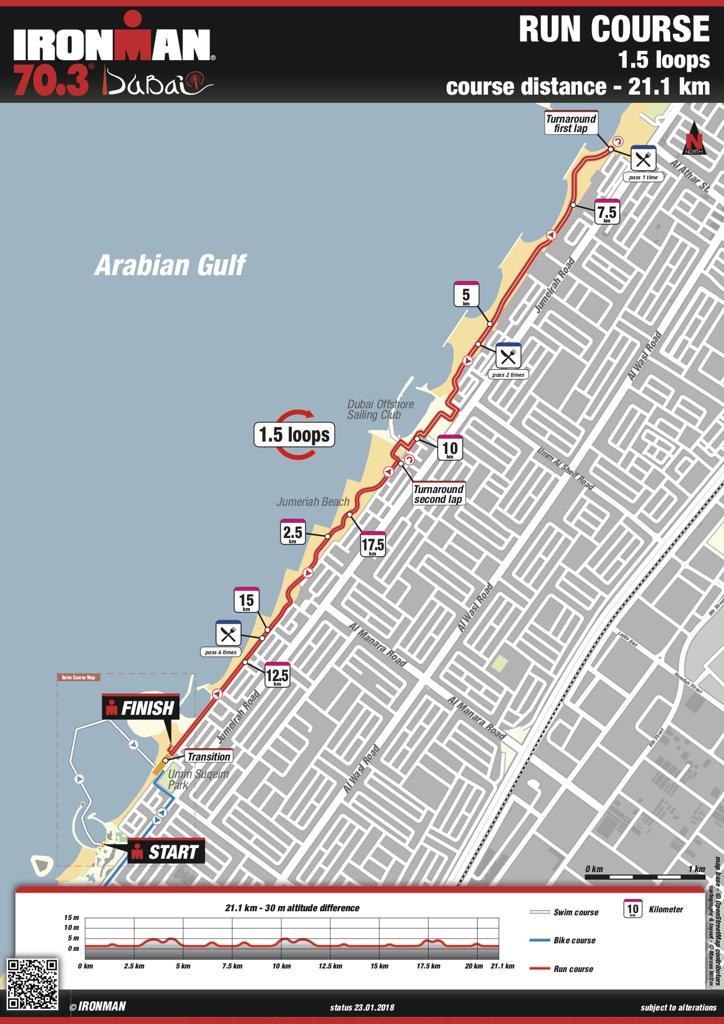 Run course map IM703 Dubai