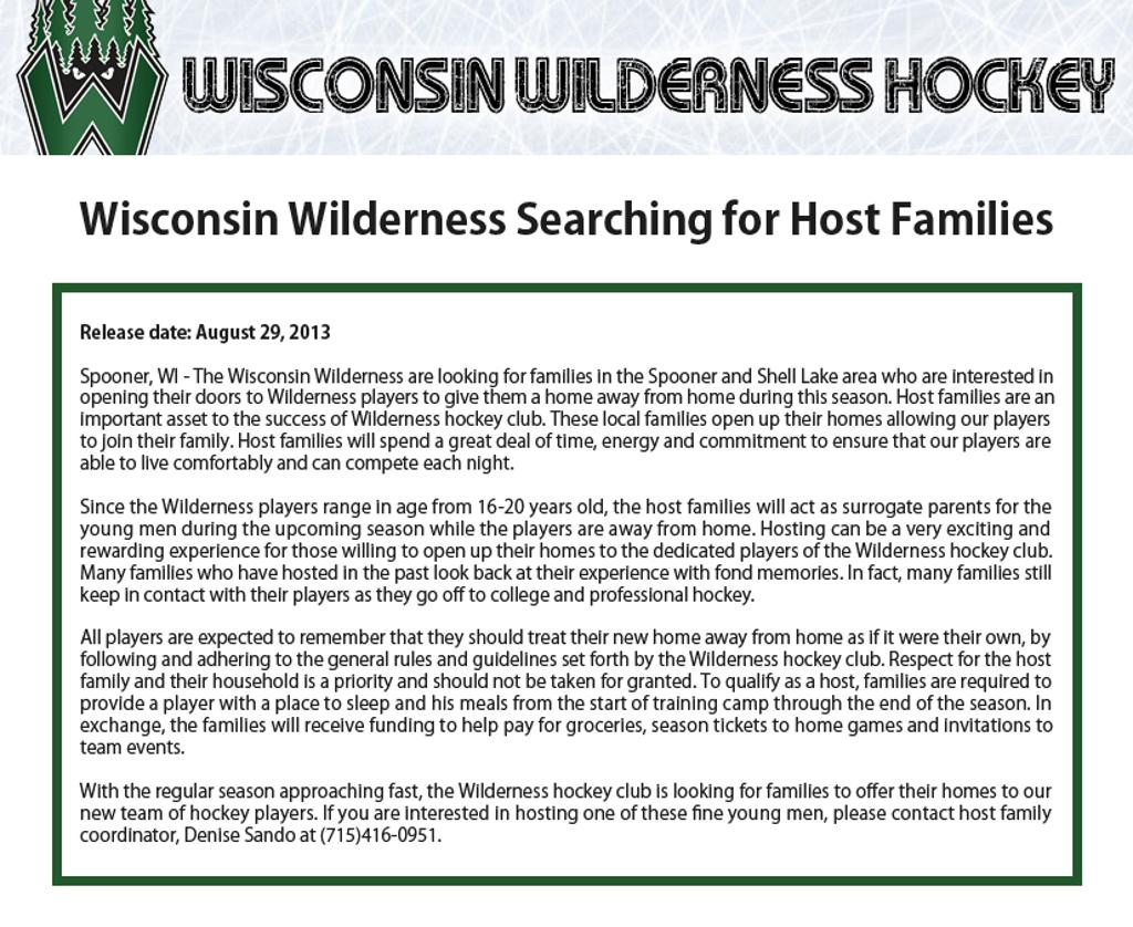 Wilderness player host families infomation international student wilderness player host families infomation spiritdancerdesigns Image collections