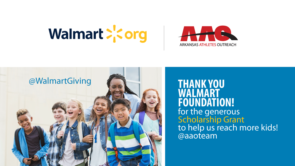 THANKFUL for Walmart Foundation's generous gift to help us offer more scholarships to student athletes!