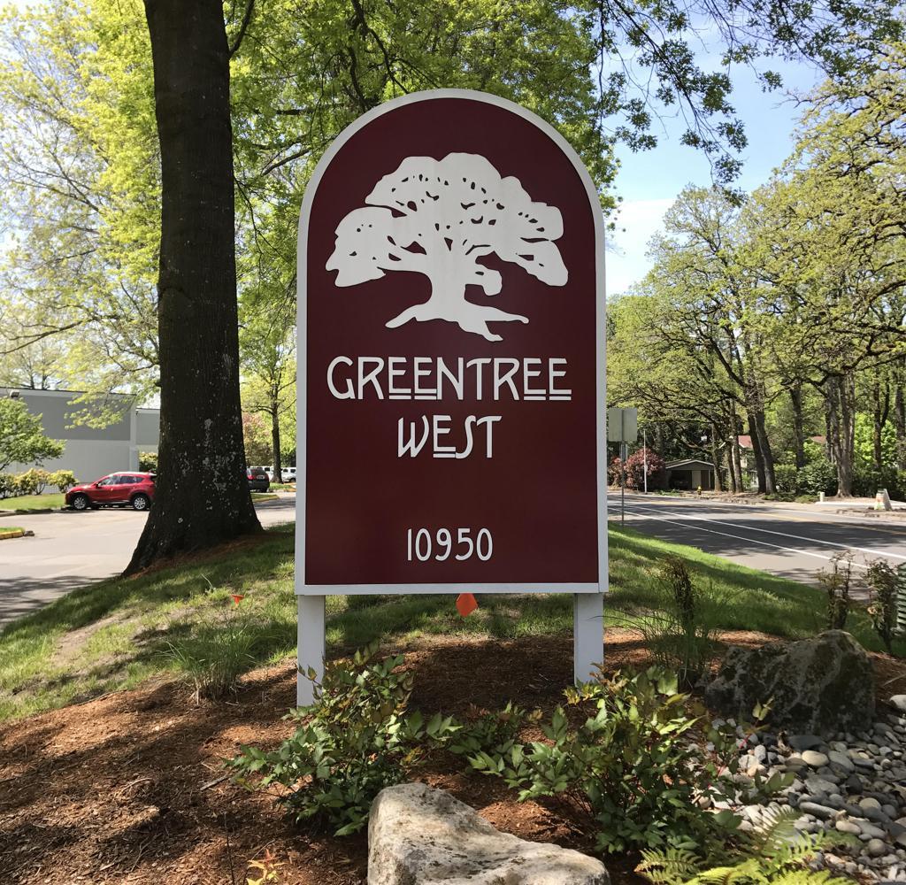 GreentreeWestSign