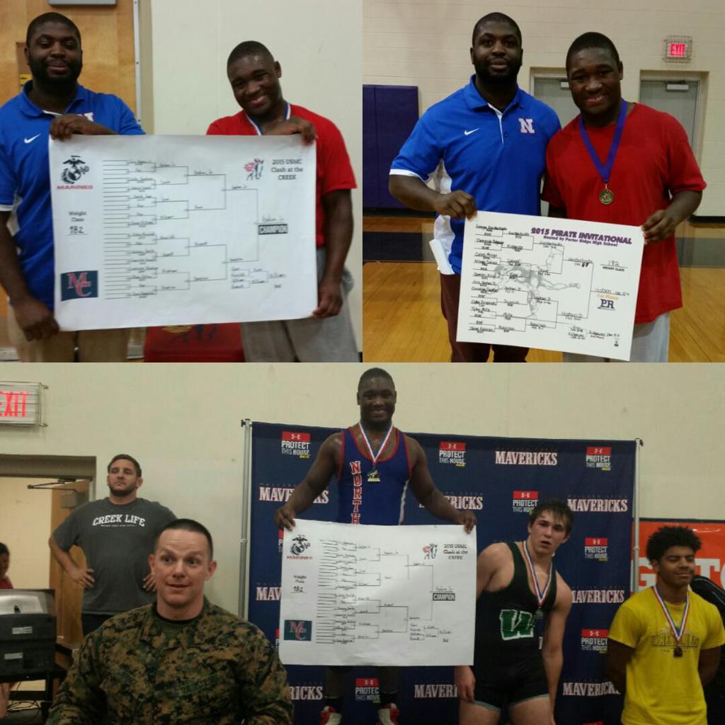 The freshman phenom strikes again! Congratulations to Eric Hudson, Jr. on winning both the 2015 Pirate Invitational Tournament & 2015 USMC Clash at the Creek Tournament