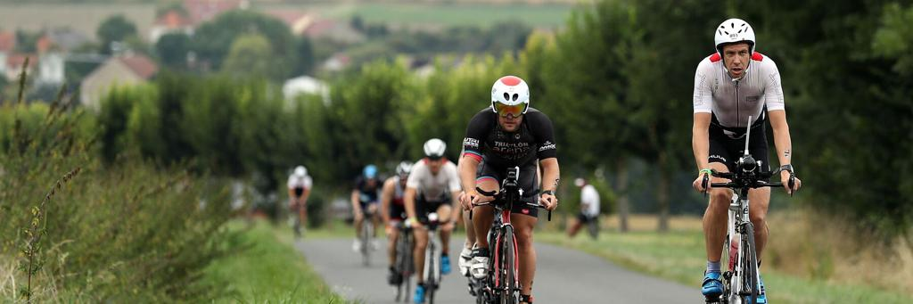 Bikers participating in IRONMAN Vichy