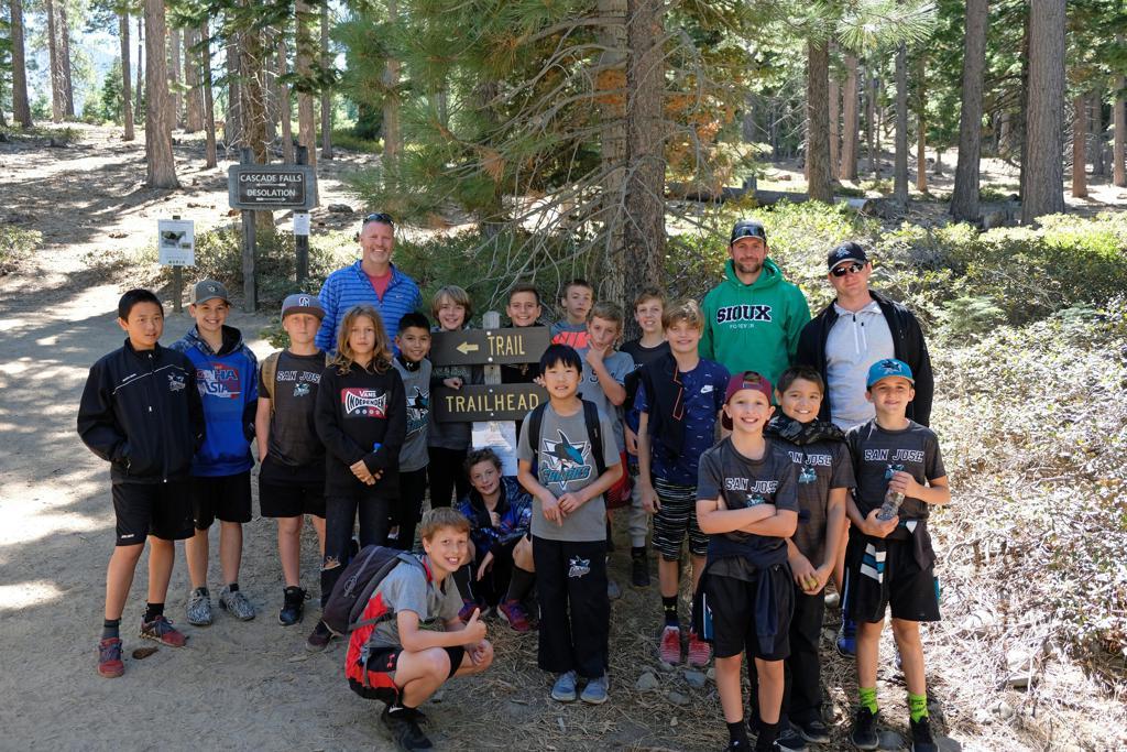 11AAA Team Hike during training in Lake Tahoe
