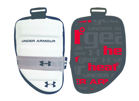under armour lunch box. this covers the bicep portion of arm for player. it keeps players safe. under armour pads lunch box
