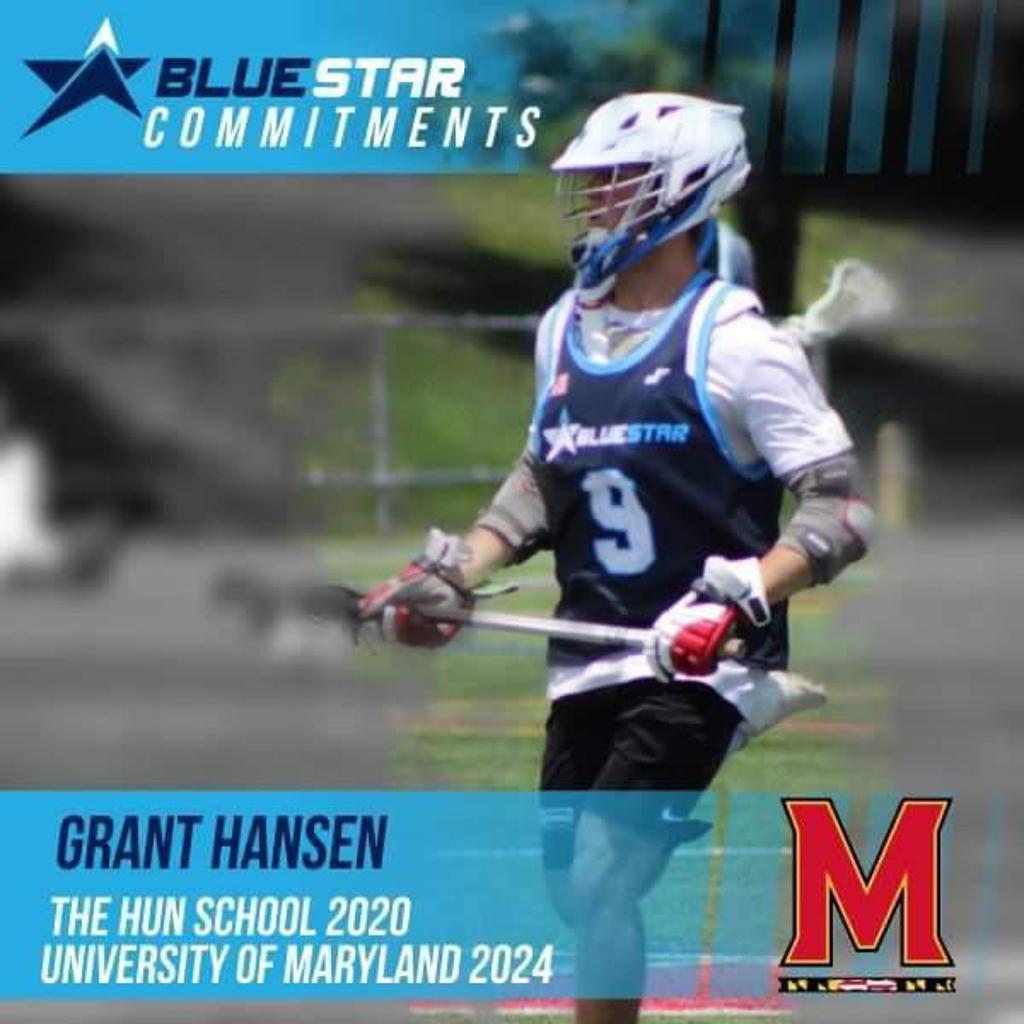 Blue Star Lacorsse Grant Hansen Maryland