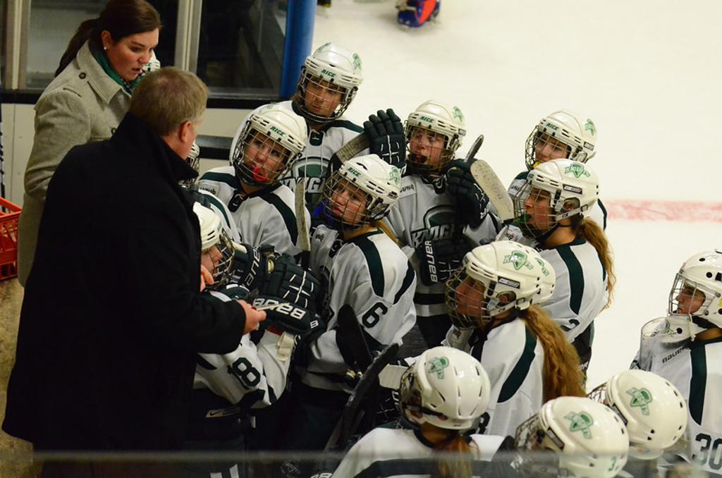 Becky Salyards currently serves as an assistant coach for Rice Prep Hockey in Vermont.