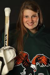 Senior goalie Kristen Pechacek
