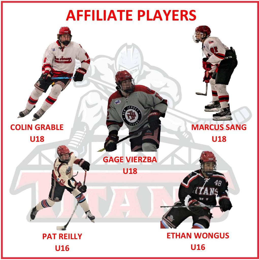 5 Titans named affiliate NAHL Titans