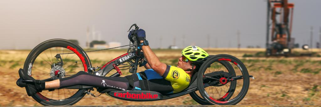 A biker catches his groove on IRONMAN Lubbock 70.3