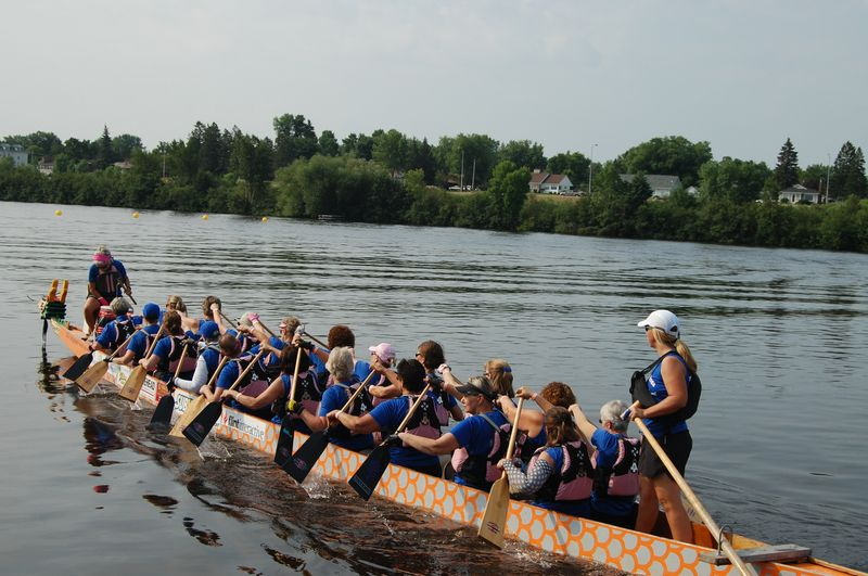 Dragon Boat Team on Water