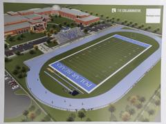 Artists rendering of Woodward stadium