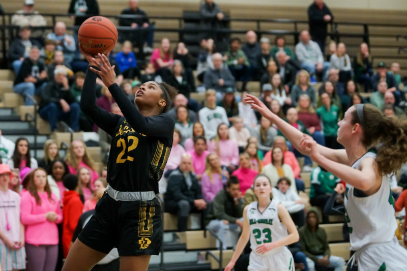 Nurjei Weems (No. 22) of DeLaSalle was one of two Islanders selected to the Class 3A all-state team this season. Photo by Korey McDermott, SportsEngine