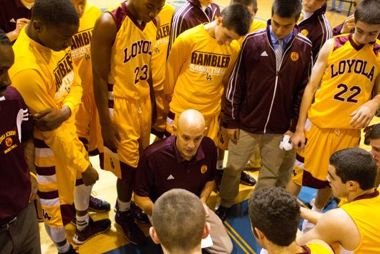 Loyola boys basketball coach Tom Livatino