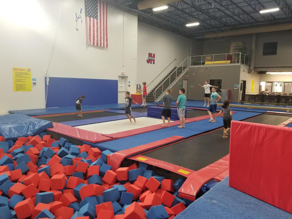 All boys event trampoline time