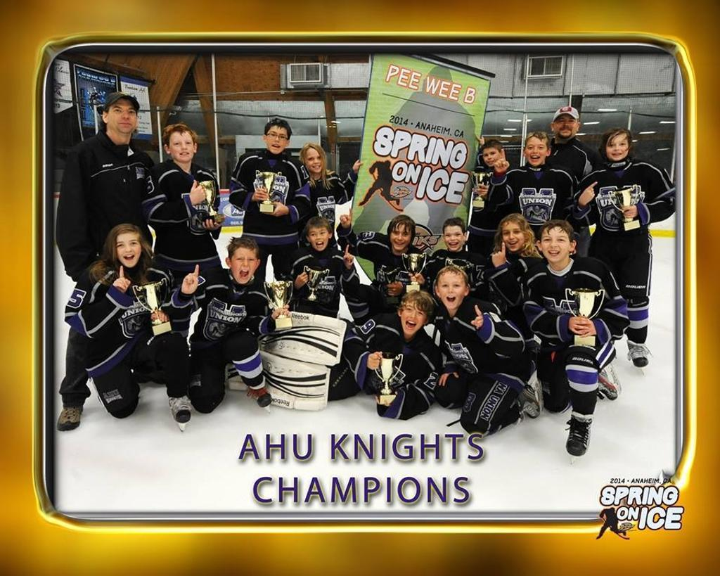AHU Peewee B Spring on Ice CHAMPIONS