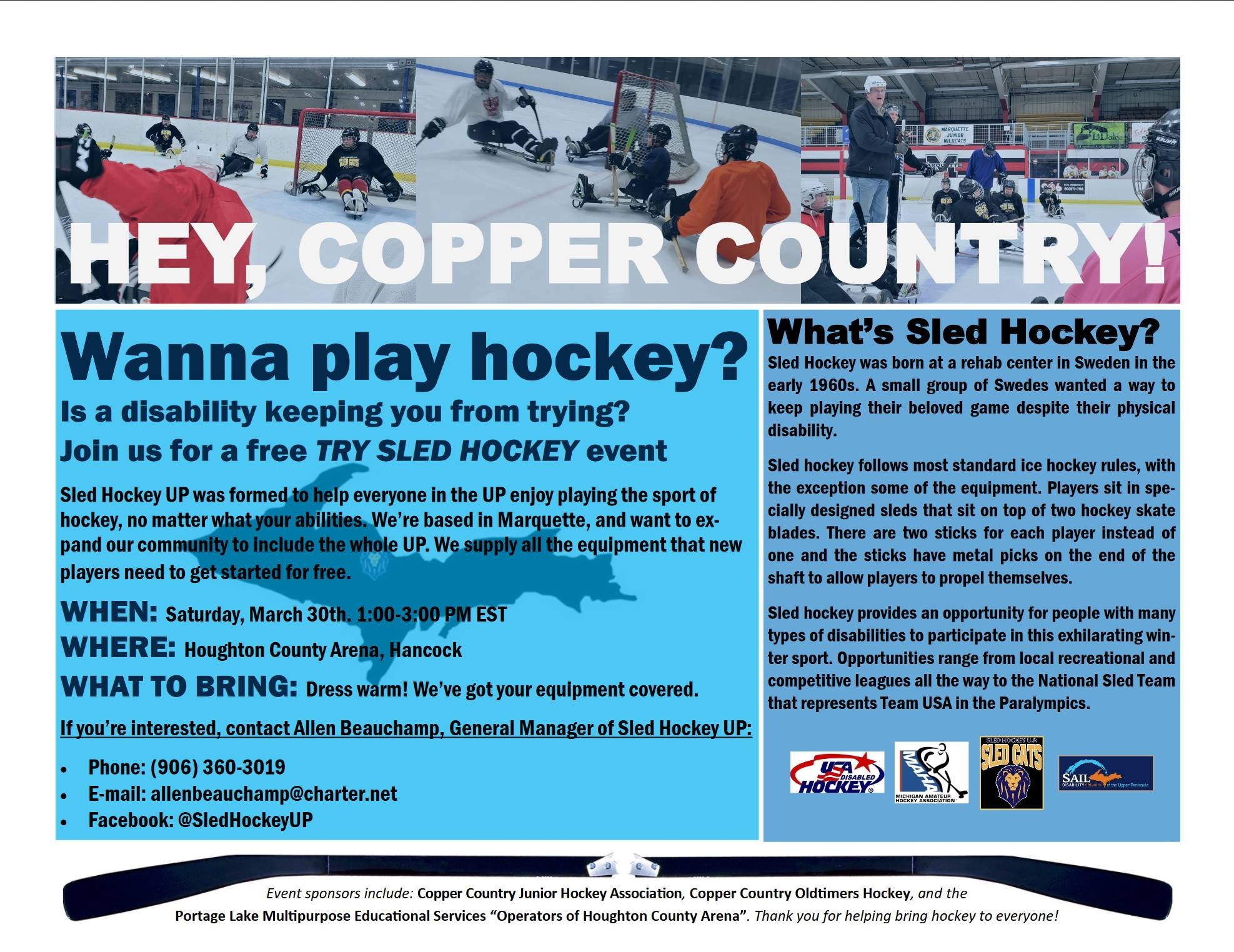 UP Sled Hockey Flyer