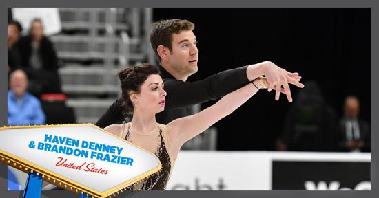 Skate America pairs competitors - Haven Denney and Brandom Frazier