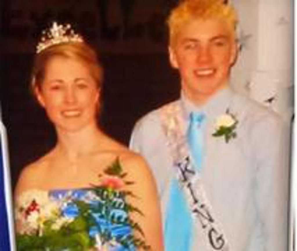 T.J. Oshie and Gigi Marvin - Warroad High School 2005 Frosty King and Queen
