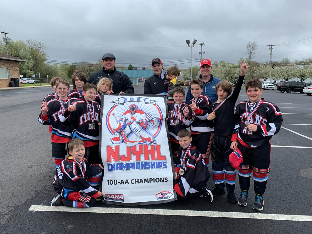 U10AA Titans win NJYHL Championship
