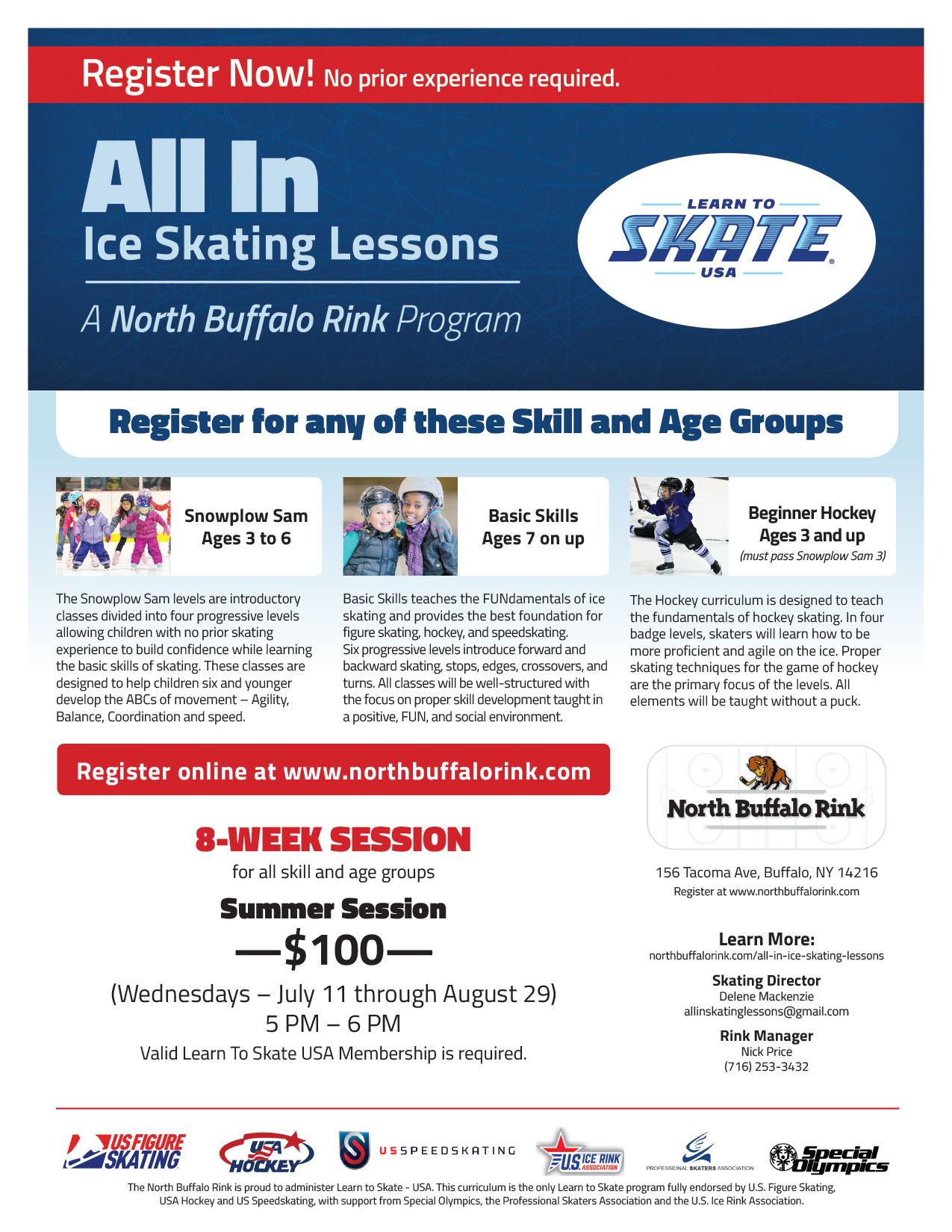All In Ice Skating Lesson - Summer Program at North Buffalo Rink