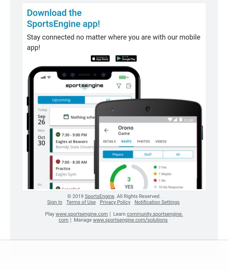 Do you use the free SportsEngine mobile app to manage your teams?