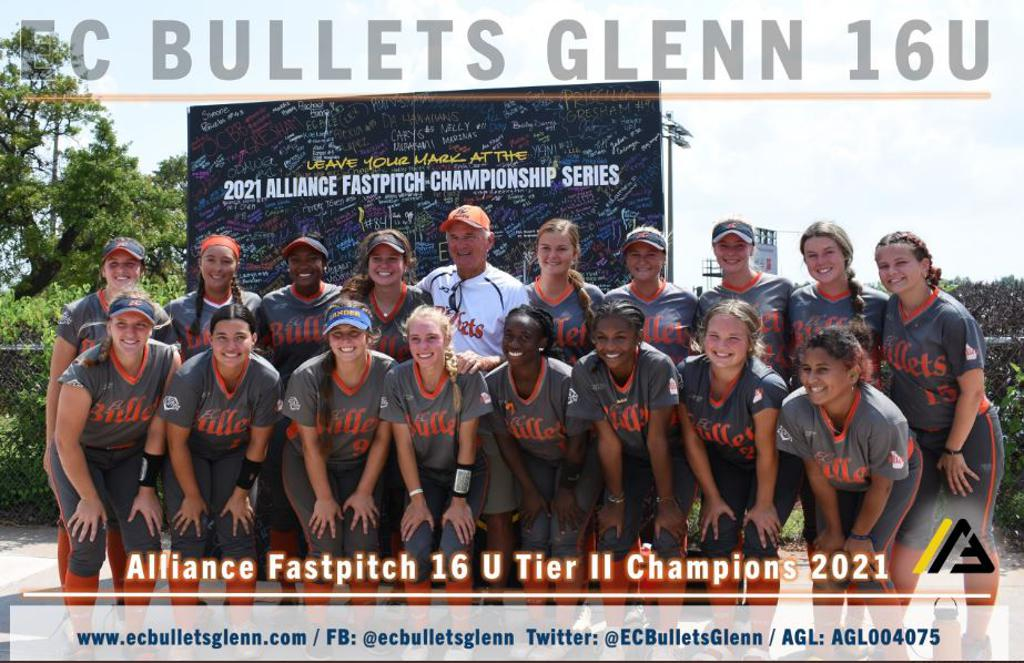 Congratulations to EC Bullets Glenn 16U Alliance Tier 2 Champions !