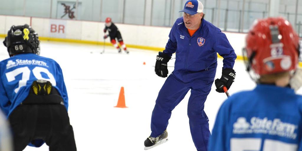 Coach Doug giving instructions