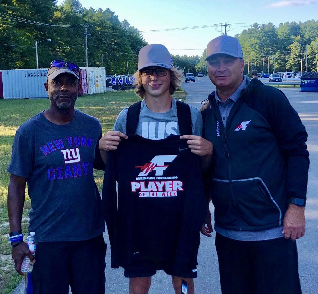 Jeff Whitman of Adrenaline Fundraising with Kyle Crampton & Kip Jackson of Merrimack